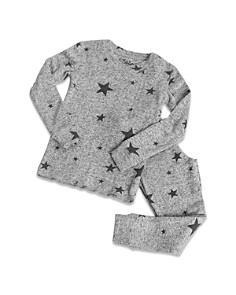 PJ Salvage - Girls' Marled Star-Print Pajama Shirt & Pants Set - Little Kid